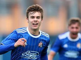 青年欧冠:萨格勒布迪纳摩1-0矿工,克里兹马尼奇贴地斩