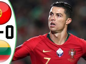 英文集锦:葡萄牙6-0立陶宛,C罗戴帽、B席传射