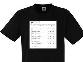门兴德甲登顶,沃尔夫斯贝格推出德甲积分榜特制T恤