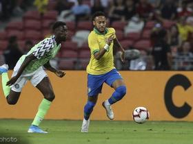 三度中框,巴西1-1尼日利亚,内马尔伤退,卡塞米罗破门