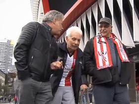 足球的力量,92岁的毕巴球迷拄拐杖从乌拉圭远赴西班牙追梦