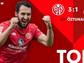 时隔两年半,厄兹图纳利再次在德甲联赛进球