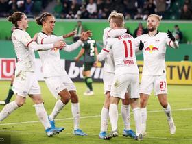 德國杯綜述:RB萊比錫大勝狼堡,柏林赫塔驚險晉級