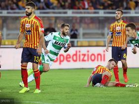 进球帮助萨索洛绝平莱切,贝拉尔迪:这是正确的结果