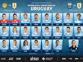乌拉圭国家队大名单:苏亚雷斯、卡瓦尼在列