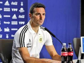 斯卡洛尼:梅西标记着足球的一个时代;很高兴队里能有他