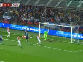 半场战报:克罗地亚0-1斯洛伐克,博热尼克破门