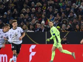 半场战报:德国1-0白俄罗斯,格纳布里助攻金特尔脚后跟破门