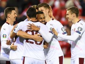 欧预赛综述:瑞士6-1大胜直布罗陀,与丹麦携手出线
