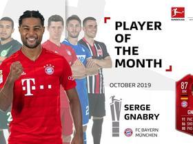 脱颖而出,格纳布里当选德甲10月最佳球员