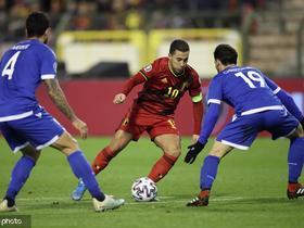 比利时6-1塞浦路斯,本特克、德布劳内献双响,卡拉斯科传射