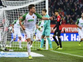德甲综述:十人美因茨5-1客胜霍芬海姆;奥格斯堡4-0柏林赫塔