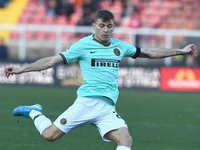 半场战报:莱切0-0国际米兰,布罗佐维奇中柱,卢卡库造威胁