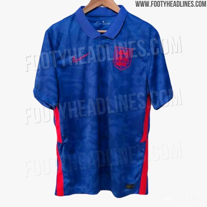外网曝光英格兰欧洲杯客场球衣、外套:蓝色基调,设计独特